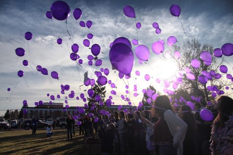 Remembering the Events of 12/13 – Senior and Staff Balloon Release