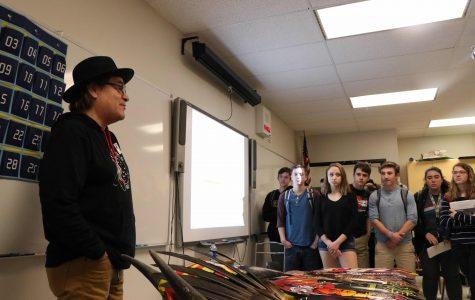 Guest Speaker Walt Pourier visits Arapahoe High School