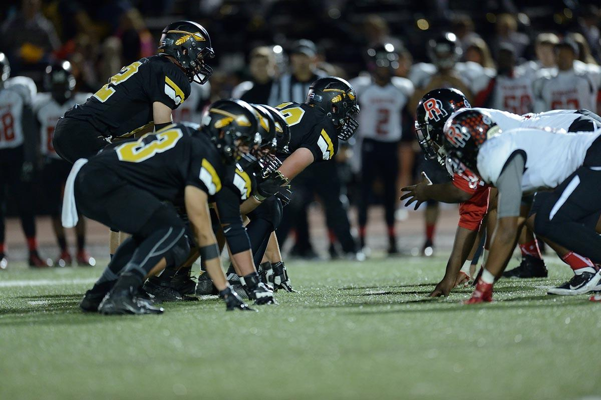 October 23, 2015, Littleton, Colorado - The Rangeview Raiders visit the Arapahoe Warriors for Class 5A football.