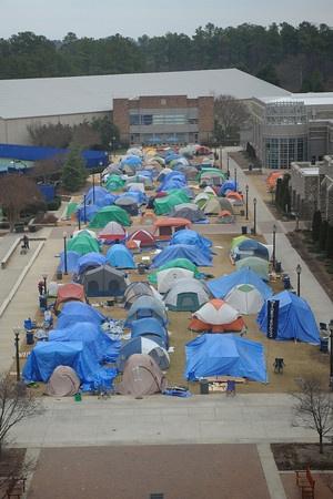 Cameron Crazies Camp in K-ville