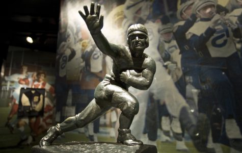 The Heisman Trophy won by John Cappeliti rest in the Museum.