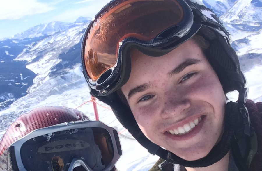 Jonathan Asphaug enjoying the mountain air at the top of Crested butte