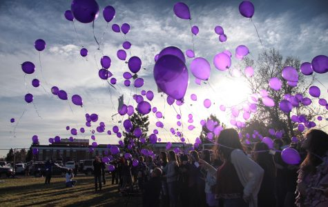 Remembering the Events of 12/13 - Senior and Staff Balloon Release