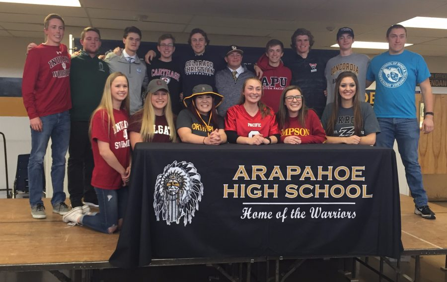 Arapahoe Athletes Sign Letters of Intent