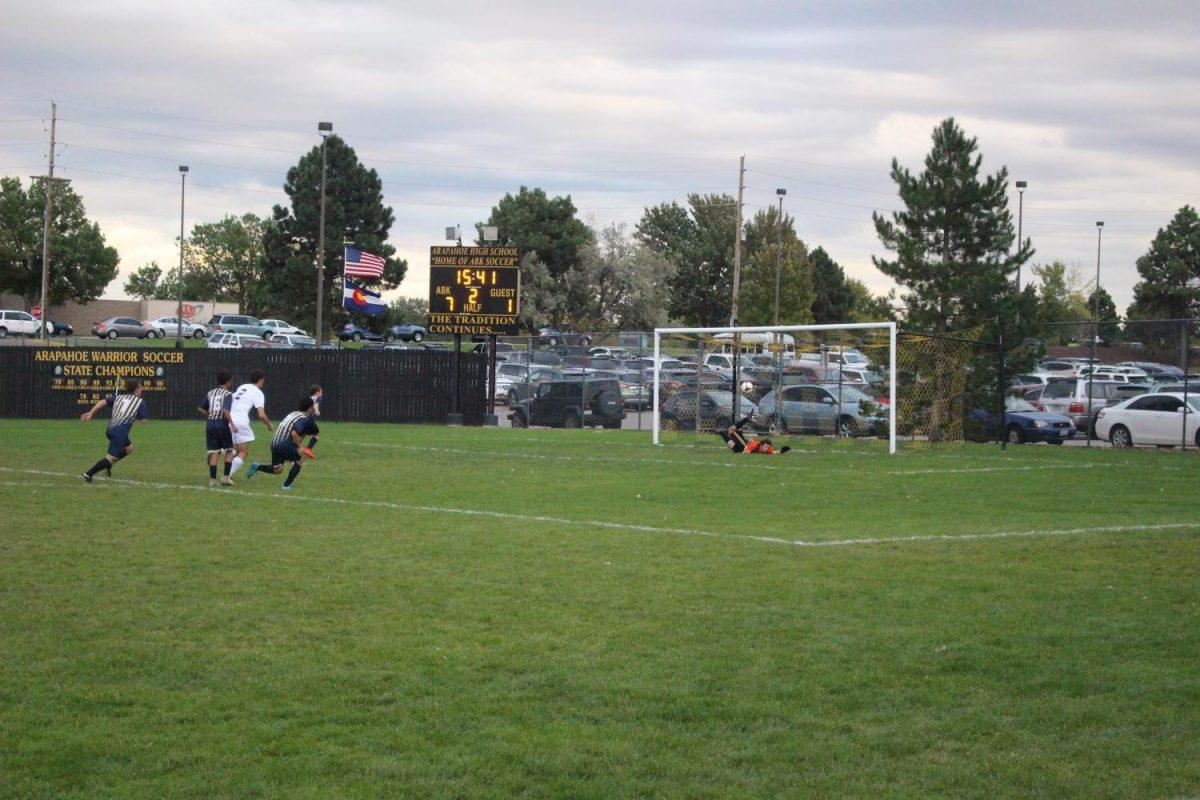 Arapahoe's keeper makes save of the game