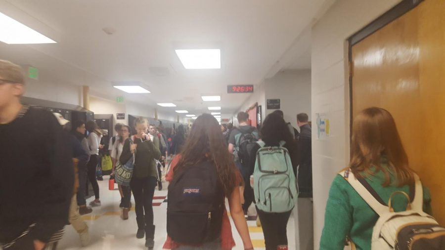 The crowded halls of Arapahoe.