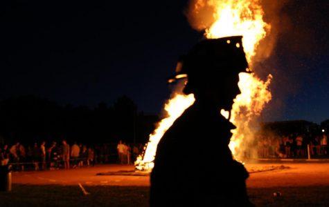 Behind Arapahoe's Bonfire