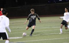 Zander Hahn takes a free kick against Greeley Central.