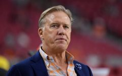 GLENDALE, AZ  - SEPTEMBER 01: Denver Broncos John Elway, executive vice president of football operations and general manager, stands int eh bench area before their game against the Arizona Cardinals September 1, 2016 at University of Phoenix Stadium in Glendale. (Photo By John Leyba/The Denver Post via Getty Images)