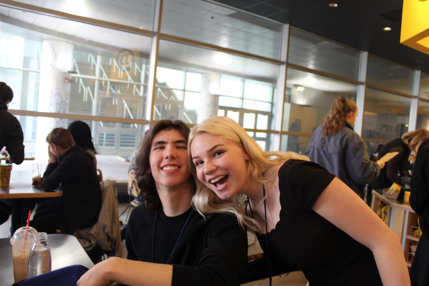 Kai Oklesson and Briana Beebe on the first day of the International Thespian Conference.